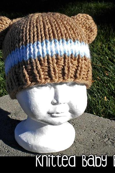 Knitted Baby Bear Hat for the Family Knitting Pattern