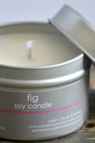 Soy Candle Tin 4 oz - Fig