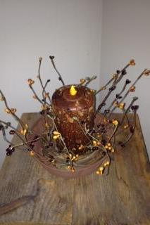 Candle, 6 inch Pillar, Cinnamon Stick Scented (LED)