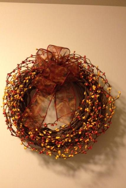 "Fall Wreath, 12""Diameter"