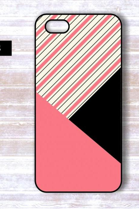 Personalized Pink GeometricIphone 5 Case - 4/4S case - Samsung Galaxy S3 Case S4 Cover