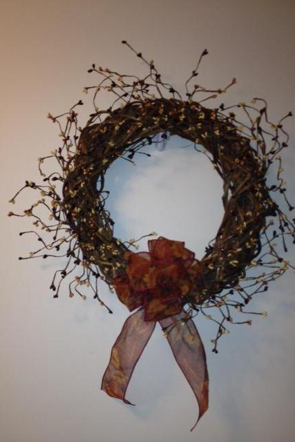 Fall Wreath, Basket Woven Grapevine