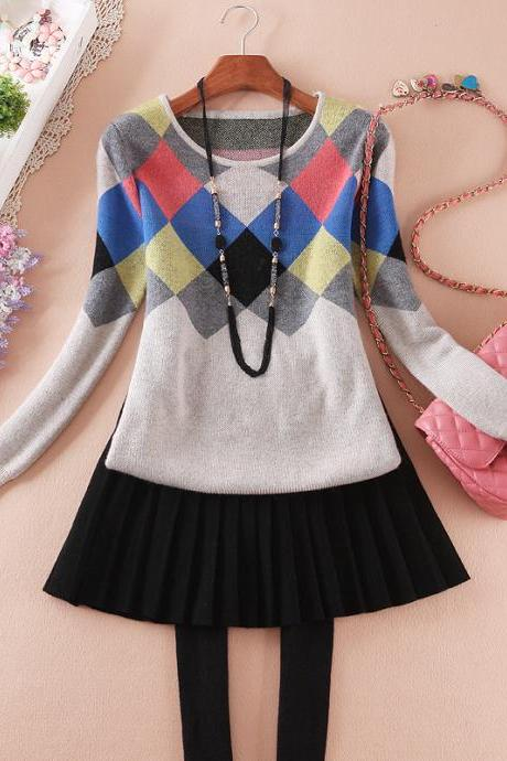 Box Color Stitching Sweaters CA922CG