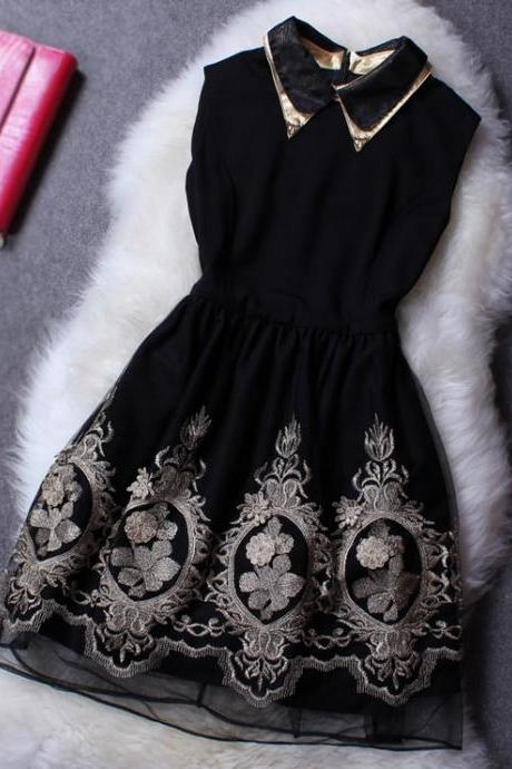 Retro Embroidered Dress