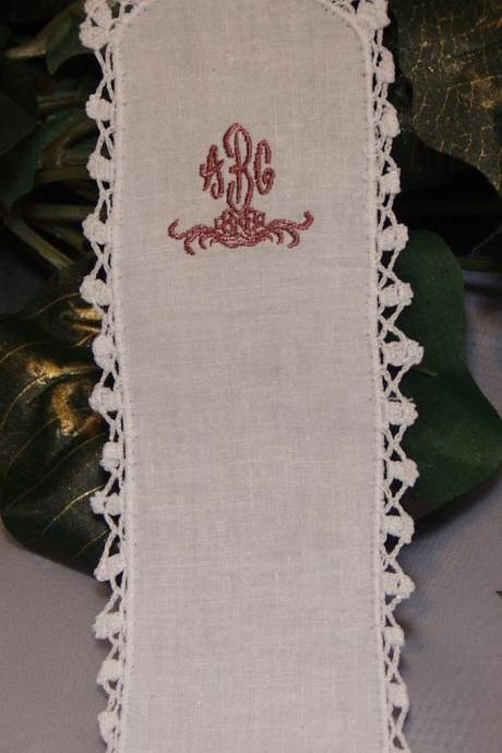 Custom Bridesmaid Gift Personalized Bookmark Embroidered Monogram