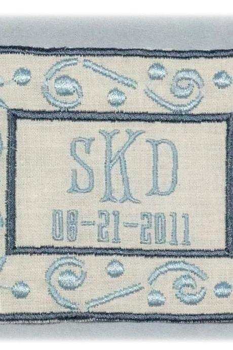 Monogrammed Wedding Dress Label
