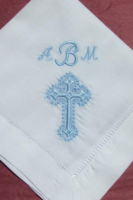 Confirmation Gift - Cross Handkerchief Hankie No. H403