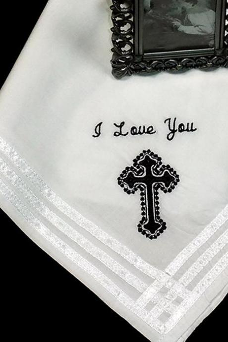 Handkerchief Wedding For Your Groom Personalized Embroidered