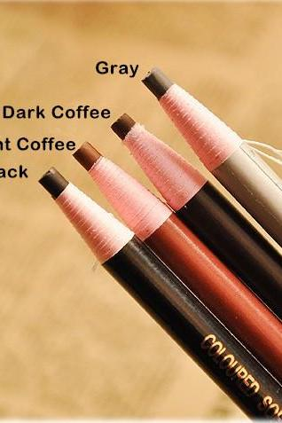 Christmas Women Gift Sale Fashion Four Colors Waterproof Professional Makeup Pull Line Eyebrow Pencil