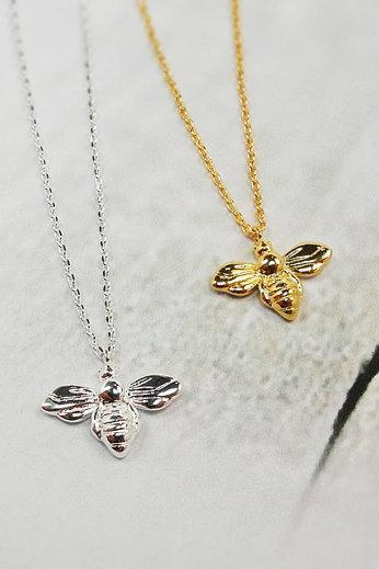 Honey Bee Necklace, Nature Neclace