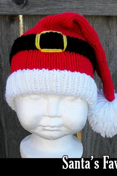 Santa's Favorite Hat for the Family Knitting Pattern