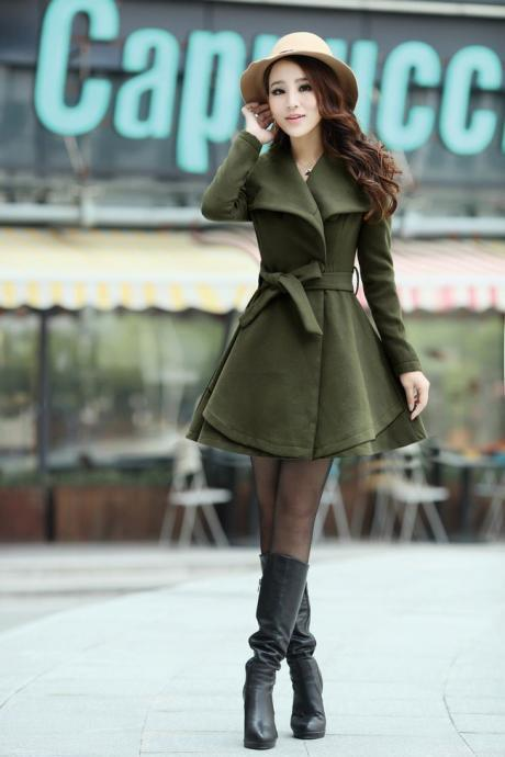 Army Green Winter Coat