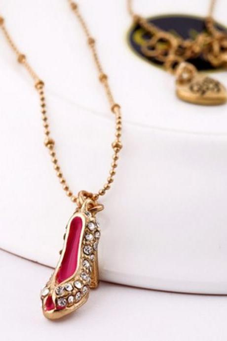 Beautiful set auger high heels necklace