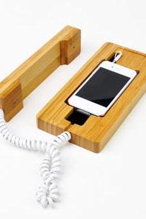 Natural Bamboo Radiation-proof Handset For Iphone