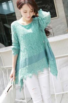 Green Lace Shirt AFBEBJ