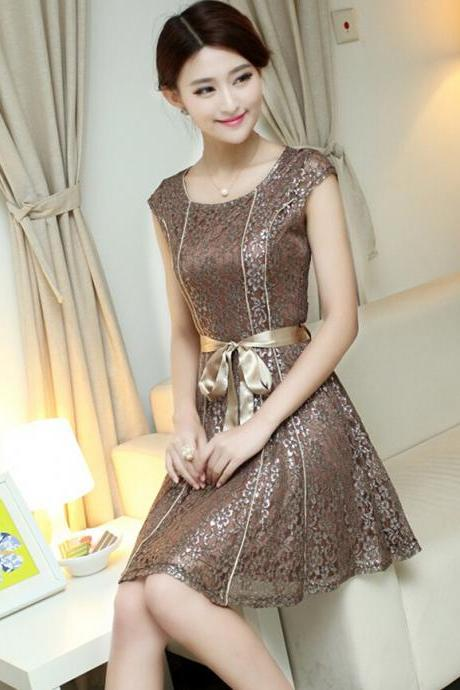 Elegant Lace Dress #BA808FC