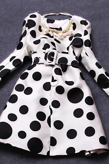 Fashion Polka Dot Coat BB918GD