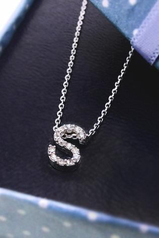 Tiny Crystal Initial Necklace, Shiny and Stunning Alphabet Necklace