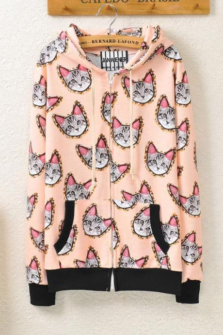 Retro Cat Sweater AD813DA