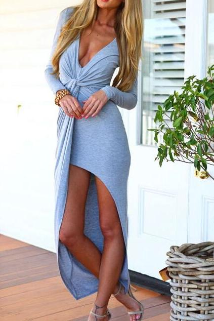 Sexy Slim V-neck Dress AZ910DC