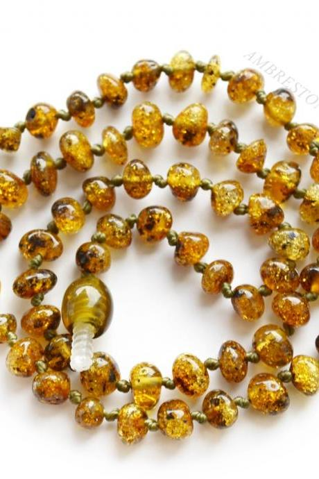 Teething amber necklace for babies | Teething jewelry | 2112 | Ambrestone