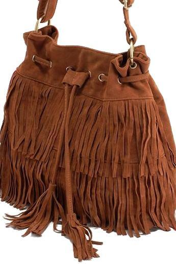 Stylish Fringe and Tassel Design Bag