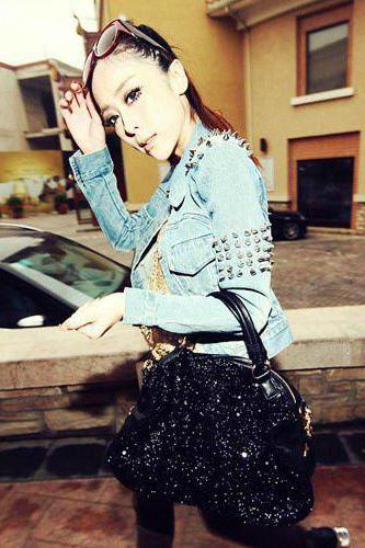 Stylish Black Sequined Tote Bag