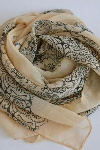 Porcelain Long Scarf
