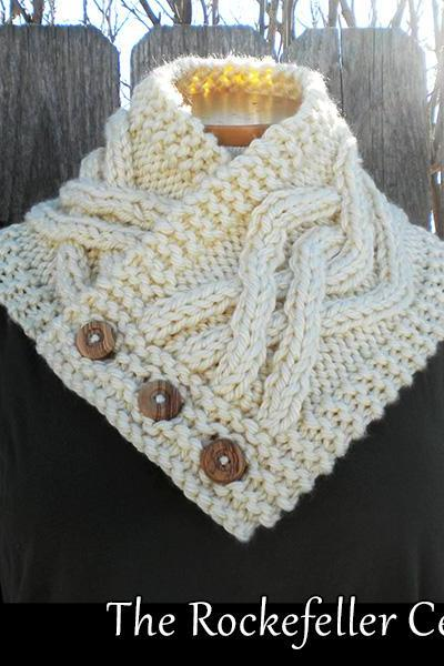 The Rockefeller Center Cowl knitting pattern