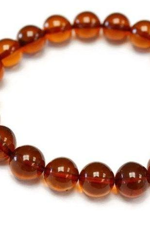 10 mm Baltic amber bracelet Cherry Round Balls clear High quality Amber beads bracelet. 0630