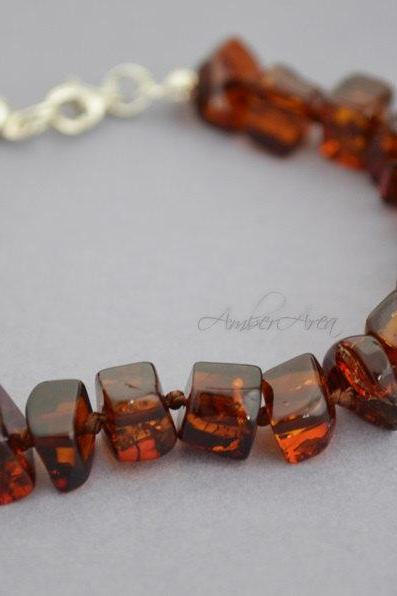 Baltic amber Health protection act positively bracelet from the Baltic to the silver 0455