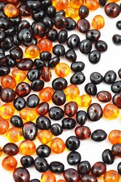 150 unit amber loose Beads, plus 2 Screw plastic spinner. Baltic amber loose Cognac cherry Beads. 0362