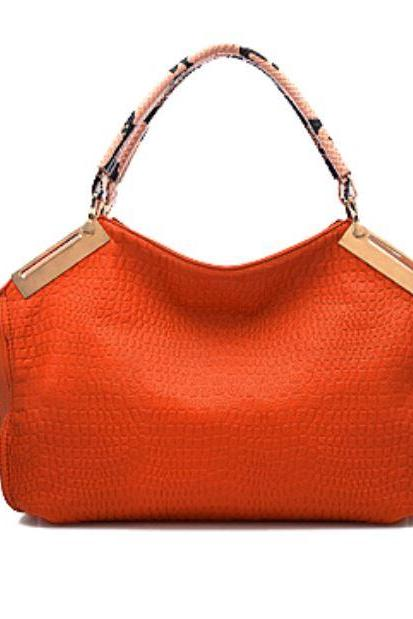 Large Big Bags Orange Shoulder Bags