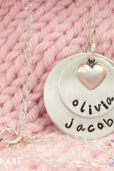 Personalized custom necklace - pendant necklace - personalized monogram jewelry - personalized engraved - sterling silver necklace
