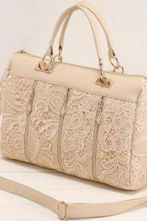 Nice Unique White Lace Handbag Shoulder Bag
