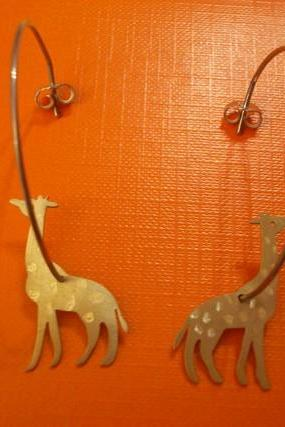 Giraffes Hoop Earrings