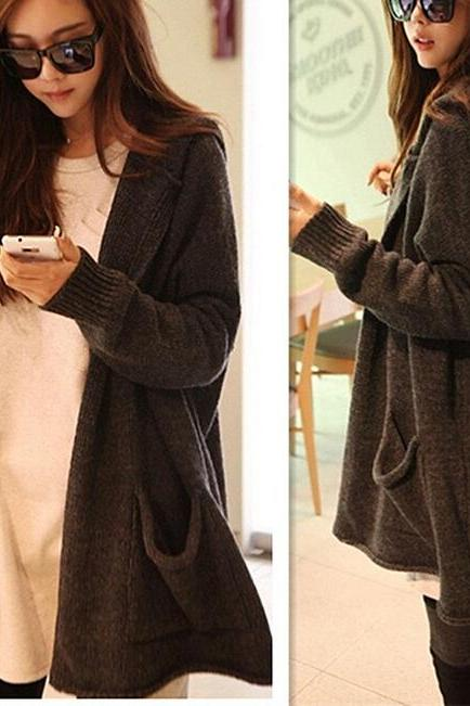 Hooded sweater coat sweater cardigan outerwear AA1119BJ