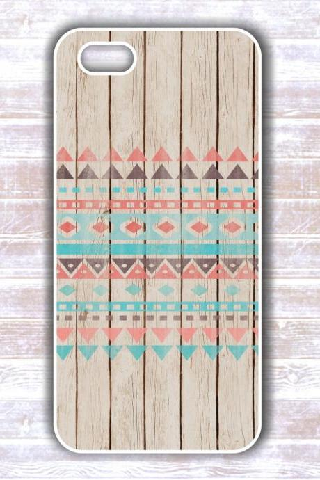 Wood Tribal Iphone 5 Case - Iphone 4S case- Samsung Galaxy S3/S4 case