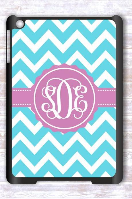Personalized Mint Chevron Ipad mini case- Monogrammed Ipad mini case