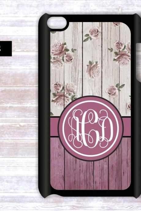 Personalized Ipod Touch Wood case- Monogrammed Ipod Touch case