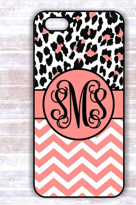 Personalized Zebra Print Custom Case - Monogrammed Iphone 4S case- Samsung Galaxy S3/S4 case