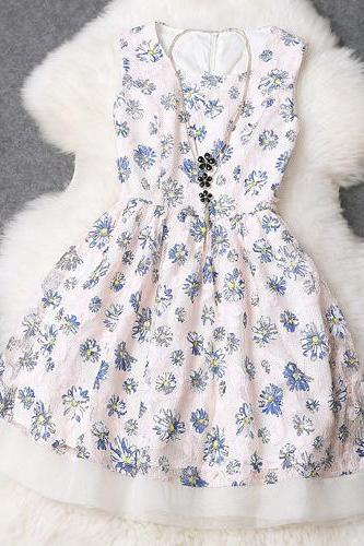Fashion Floral Sleeveless Dress ED62619