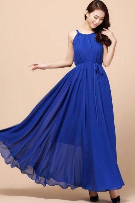 Royal Blue Bridesmaids Dress Blue Maxi Dresses Teens and Adult Women