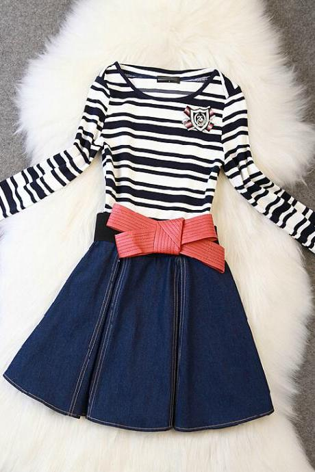 Slim Fashion Wild Striped Dress