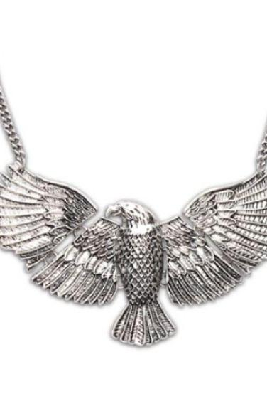 Silver American Eagle Necklace-Unisex Necklace for both Men and Women