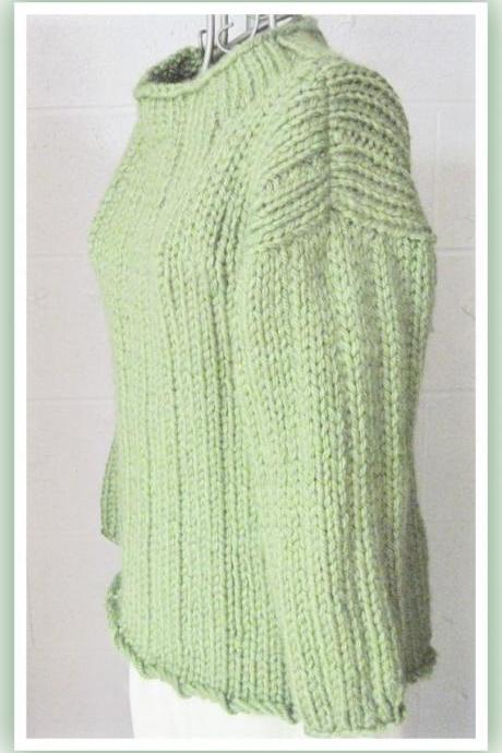 Loose Long Bulky Sweater Knitting Pattern for Teen to Adult