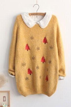 Christmas sweater loose cardigans