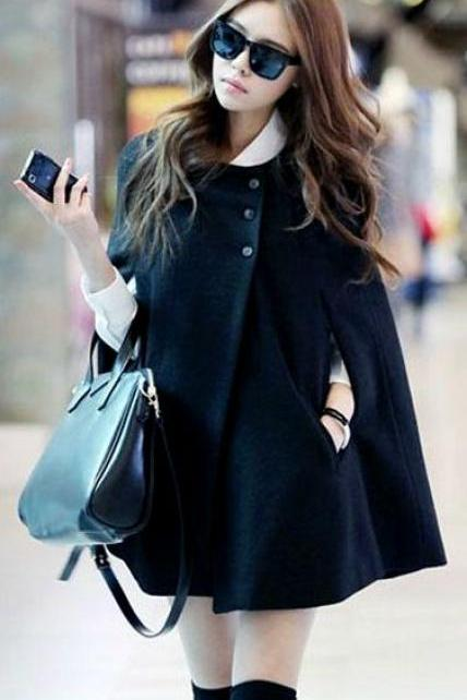 Cute Black Winter Coat