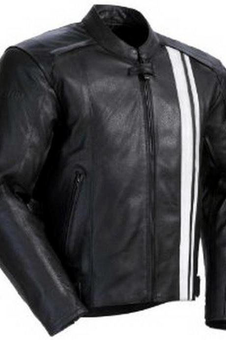 Handmade New Men Stylish Biker Lining Motorcycle Leather Jacket, men leather jacket, Leather jacket for men, Biker Leather Jacket