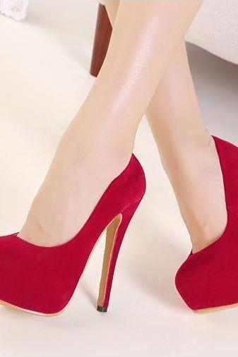 Classy Red High Heels Fashion Shoes